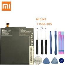 Xiao mi Original Replacement Battery BM31 For Xiaomi Mi 3 Cellphone 3050mAh High Capacity Rechargeable