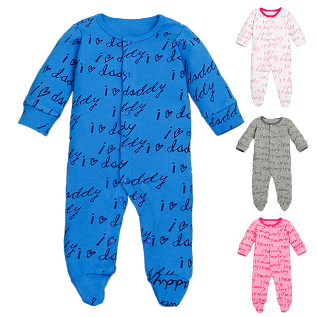e6fc12772438a6 US $9.29 |Mamas Infant Clothing Letter Printed Daddy Macacao Bebe Masculino  Foot Covered Newborn Clothes Soft Autumn Mamas Infant Clothing-in Rompers  ...