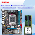 Rabatt Marke motherboard combo HUANAN ZHI M-ATX X79 LGA2011 motherboard mit CPU Intel Xeon E5 2620 V2 SR1AN RAM 8G REG ECC