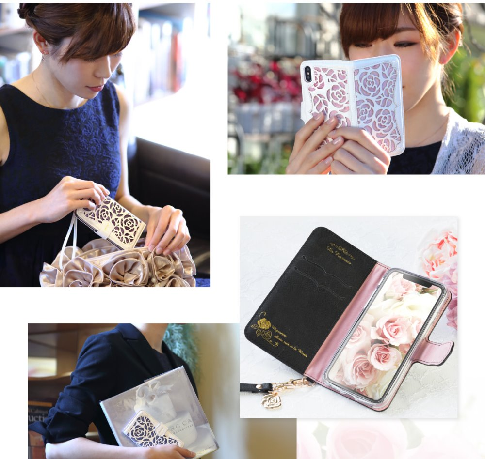 3D Hollow Rose Flower Leather + Cotton Wool Wallet Case For iPhone X 8 7 Flip Cover For iPhone 5S SE 5 Case Cards Holder Coque