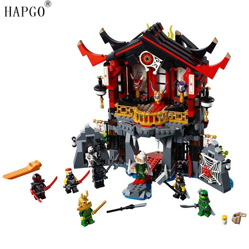 Nouveau Ninja Ensembles Temple de Résurrection Compatible Avec Legoingly Ninjago 70643 Buliding Blocs Jouets Pour 8-14 Garçons De Noël cadeaux