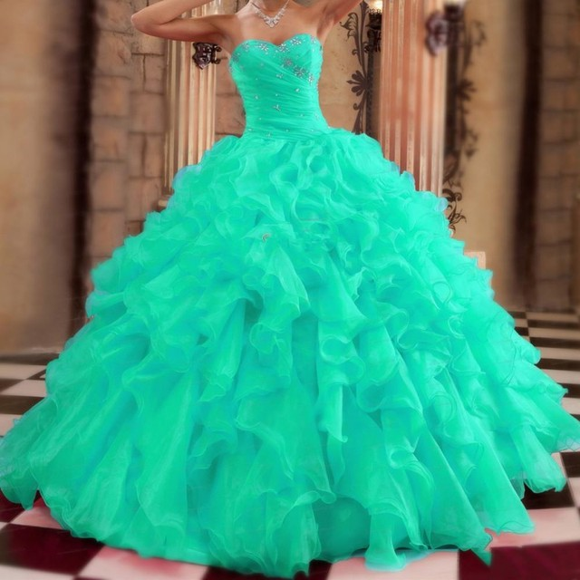 Sweet 16 Turquoise Quinceanera Dresses Sweetheart C Mint Green Masquerade Ball Gowns 15 Years Dress