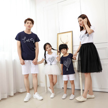 Mom Son Outfits Mama Mother and Daughter Dresses Tutu Skirt Father Boys Shirts Infant Toddler Baby Clothes Family Outfit