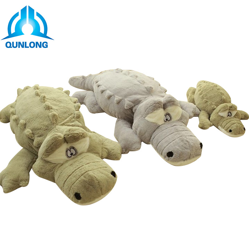 Qunlong 60/90/110cm Big Size Kawaii Crocodile Personalities Plush Pillow Soft Animals Stuffed Toys For Kids Dolls Birthday Gifts 200cm stuffed animals big size simulation crocodile kawaii plush toy cushion pillow toys for kids free shipping