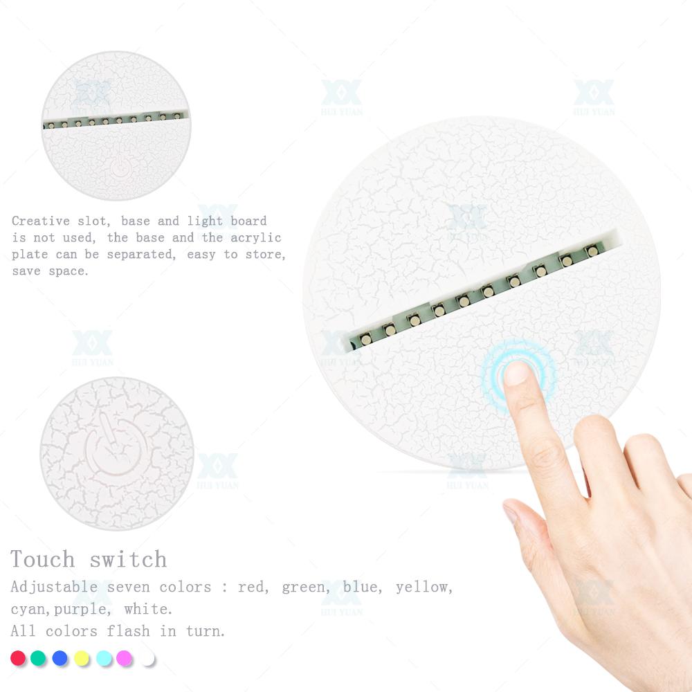 Fortnite 3D Lamp Poke Crystal RGB Changeable Mood Lamp 7