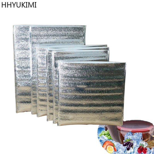 Hhyukimi 10 Pcs Aluminum Foil Insulation Takeaway Food