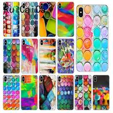 RuiCaiCa Colorful Watercolors Set Paint Palette TPU Soft Phone Case Cover for iPhone 8 7 6 6S Plus 5 5S SE XR X XS MAX 10(China)