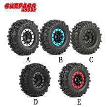 4pcs 4020 110mm 1.9in Rubber Tire with Alloy Beadlock Wheel Rim for AXIAL SCX10 90046 RC4WD D90 1/10 RC Rock Crawler Car rcaidong rock racer crawler 2 2 128mm tires for 1 10 rc4wd d90 axial wraith scx10 rc rock crawler 4pcs