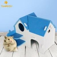 Pet Hamster Evi Ahşap Kulübe Kabin Küçük Hayvan Gerbil Fare Sıçan Gine Chinchilla Yatak Eğlence Oyun Alanı Oyuncak Küçük Hayvan Ev