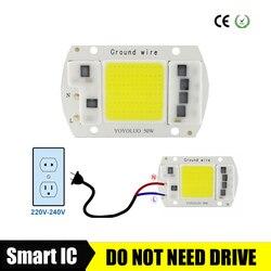 20 Вт 15 Вт 50 Вт 30 Вт высокомощный интегрированный чип COB лампа 220 В матрица Светодиодный прожектор DIY прожекторная лампа уличная лампада