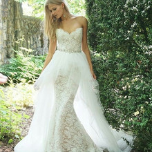 kejiadian Sweetheart Sleeveless Floor Length Wedding Dress