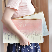 2016 7 2017 12 Desk Calendar Planner Desktop Papery 2017 Shedules Planner Organizer Table Calendar Printing