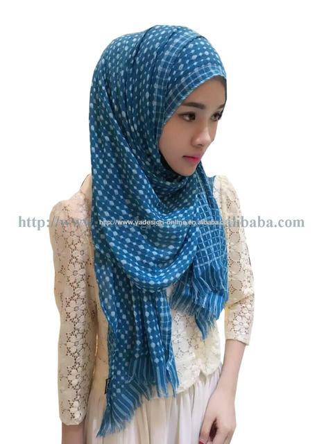 a6ad61987e2 20 pcs sac 180 55 cm Élégant lady musulman longue écharpe coton vérifier  foulard
