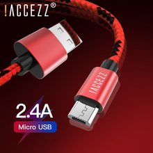 !ACCEZZ Micro USB Cable 2.4A Fast Charge Data For Samsung S6 S7 Xiaomi Redmi Note 5 Pro LG Tablet Android Mobile Phone Wire Cord vacuum cleaner hepa filter vacuum cleaner parts replacement part filter hepa filter for philips fc8470 fc8471 fc8472