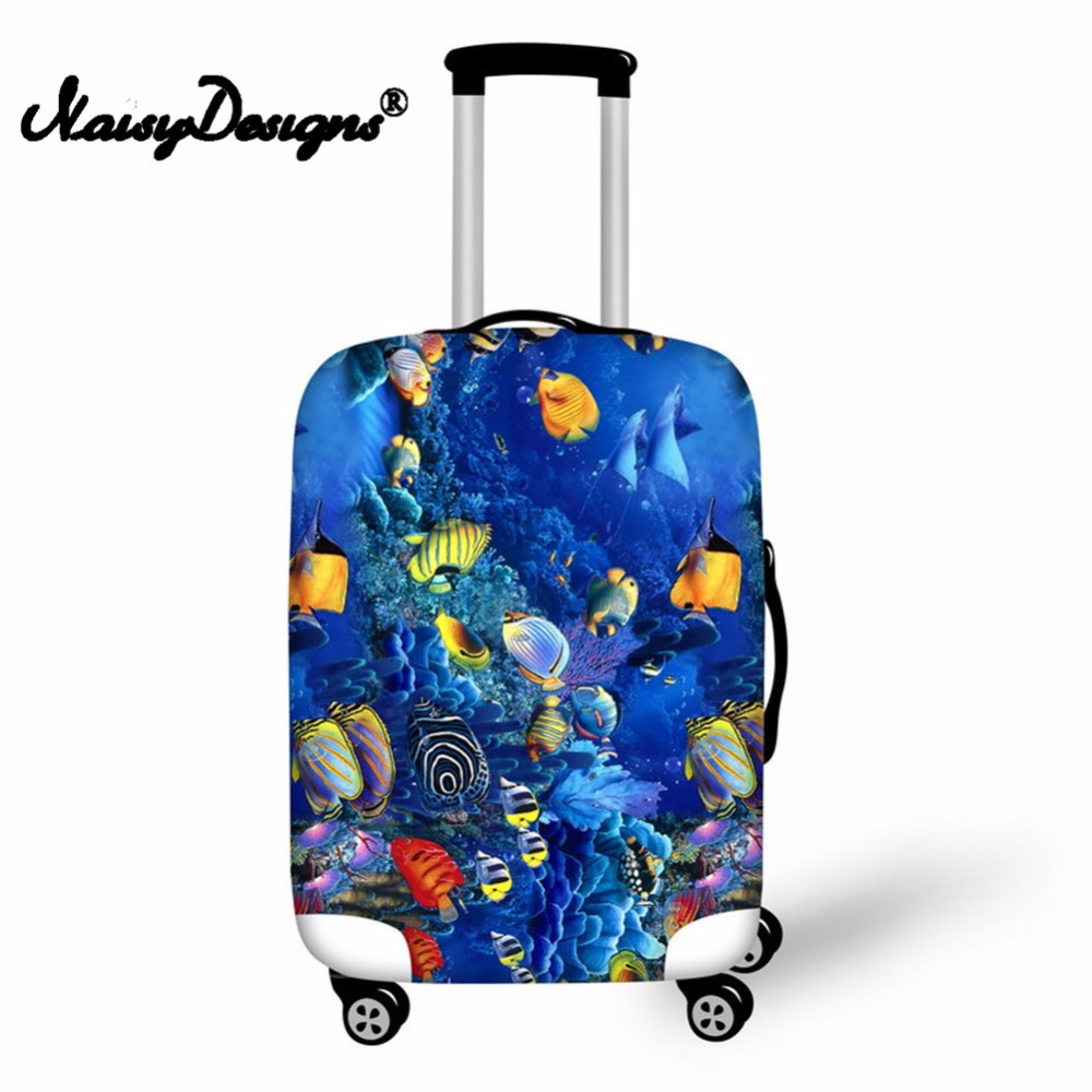 Noisydesigns Submarine Fish Elastic Fashion Protective Cover Dust-proof Anti-scratch PortableTrunk Apply To Case Cover For S/M/L