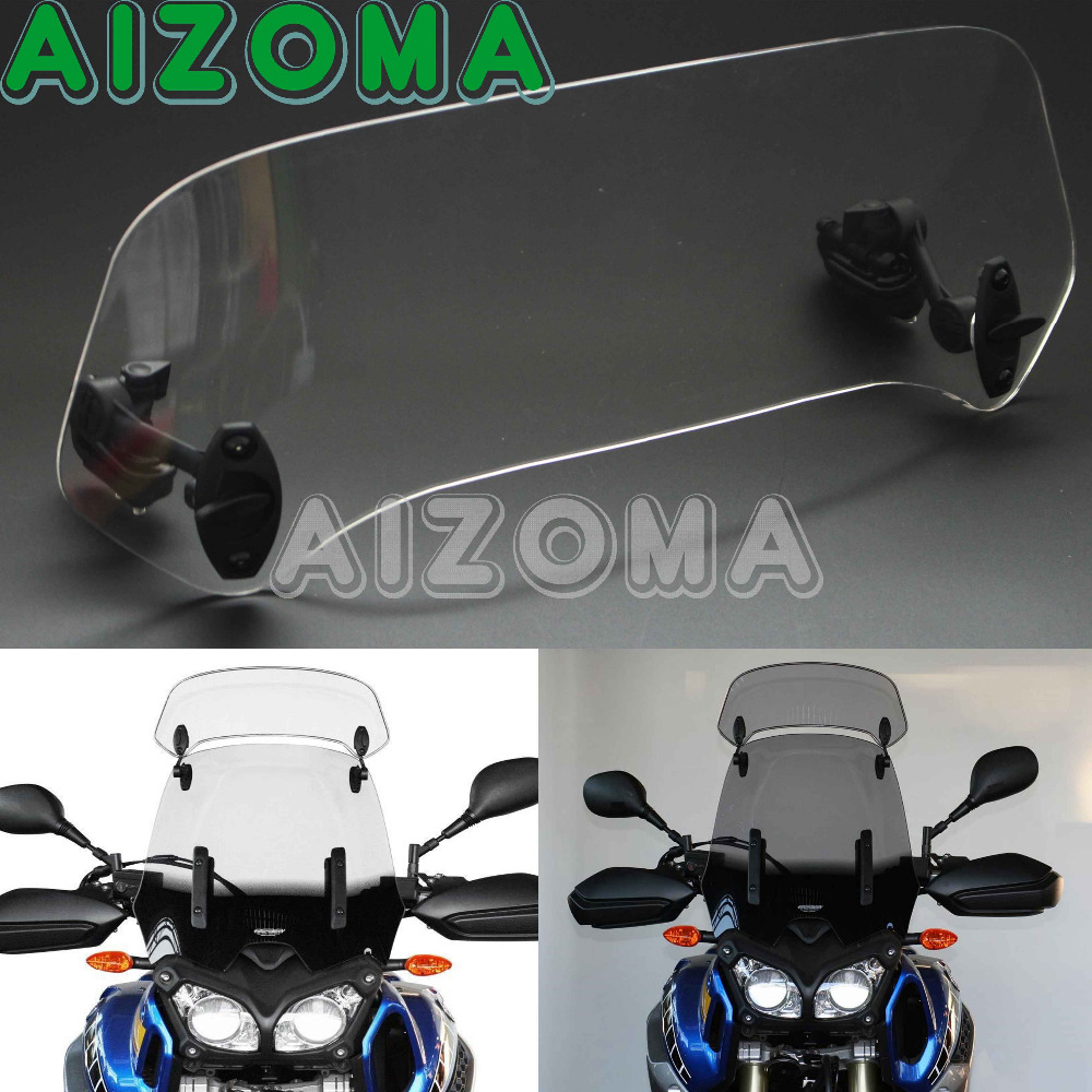 Clear Somke Motorcycle Risen 11 Adjustable Wind Screen Windshield Extension Spoiler Air Deflector For Yamaha Honda BMW R1200GS кеды enrico coveri enrico coveri en717amtrv17