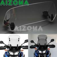 Universal Adjustable Clip On Screen Windscreen Windshield Spoiler Air Deflector Motorcycles Wind Deflector For BMW Honda Triumph