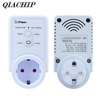 QIACHIP Smart Plug GSM Smart Socket SMS Commands Remote Control SIM Card Turn On Off Electronics