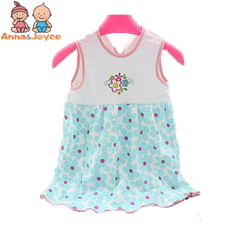 dac21666f0be 2018 Branded Baby Dress Baby tjejer klänning, super mjuk 100% bomull ...