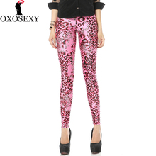 New elastic high waist leggings fitness rose leopard Sexy Legins Slim Leggins Printed Women Leggings Women Pants sport 126