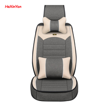 цена на HeXinYan Universal Flax Car Seat Covers for Land Rover all models Freelander Rover Range Evoque Sport Discovery 4 5 auto styling