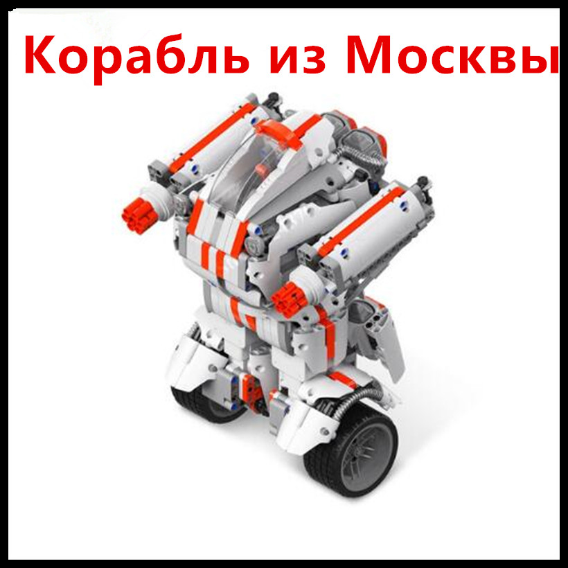 (Ship From Russia) Xiaomi Robot Mitu Building Block Robot Bluetooth Mobile Remote Control 978 Spare Parts Self-balance System цена