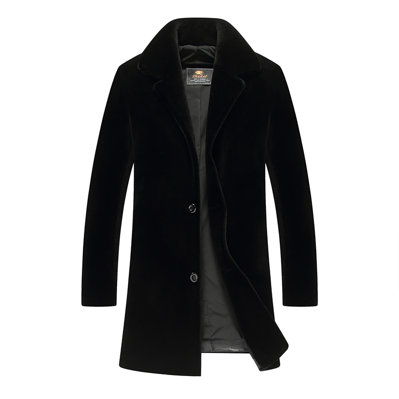 Fashion Mens Coat Jacket Wool 2018 New Long Wool Coat Men Winter Men Overcoat