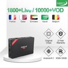 Leadcool Pro IP TV Box 1 Year QHDTV French Arabic IPTV Subscription Android 8.1 TV Box RK3229 Morocco Belgium Italy IPTV France недорого