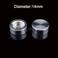 DHL 200PCS Diameter 14mm brushed copper standoff screw cover decorative screws caps acrylic board advertising nails JF1369
