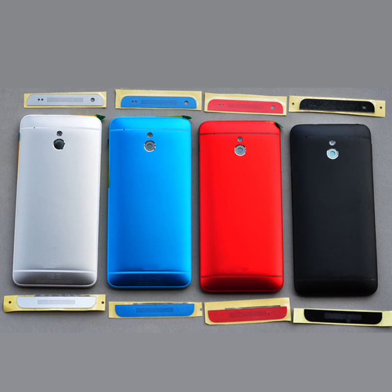 Original housing battery door back cover case for HTC One mini M4 601s 601n 601e M7 mini with top bottom slat side buttons black