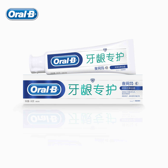 Oral B Night Intensive Care Toothpaste Fluorinated Deep Clean Mint Tooth Pastes Reduces Gum Swelling Stop Bleeding 140g*1pcs