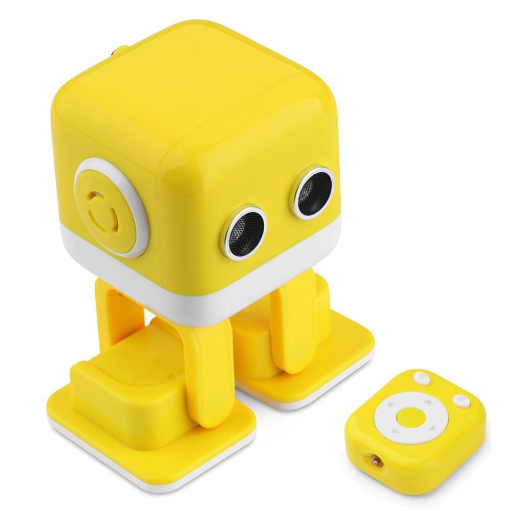 где купить Best Christmas Gift Cube RC Intelligent Robot Smart Bluetooth Speaker Musical Dancing Toy Atrractive LED Face Gesture Interative дешево