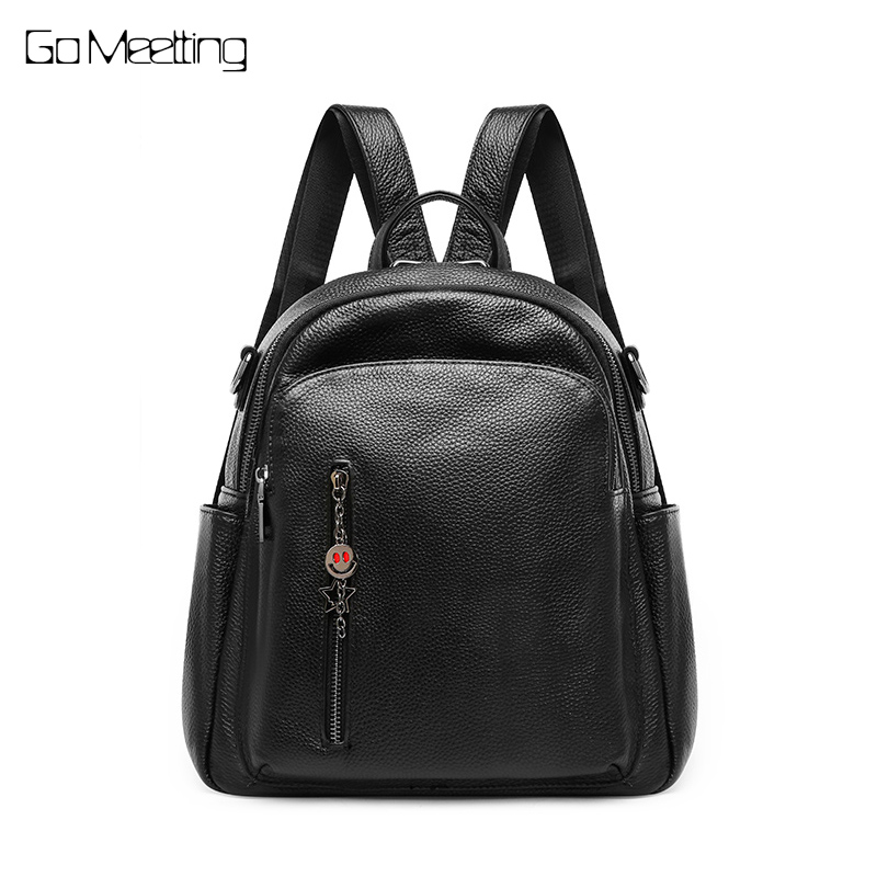 New Arrival Women Backpack 100% Genuine Leather Ladies Travel Shoulder Bags Preppy Style Schoolbags For Girls Knapsack Holiday цена