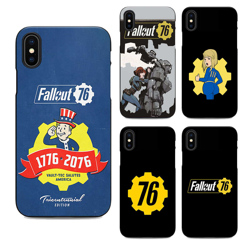 Fallout 76 Soft Silicone Black Cover Phone Case For Iphone