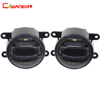 Cawanerl 2 Pieces Car Styling Fog Light LED DRL Daytime Running Lamp High Lumens For Dacia