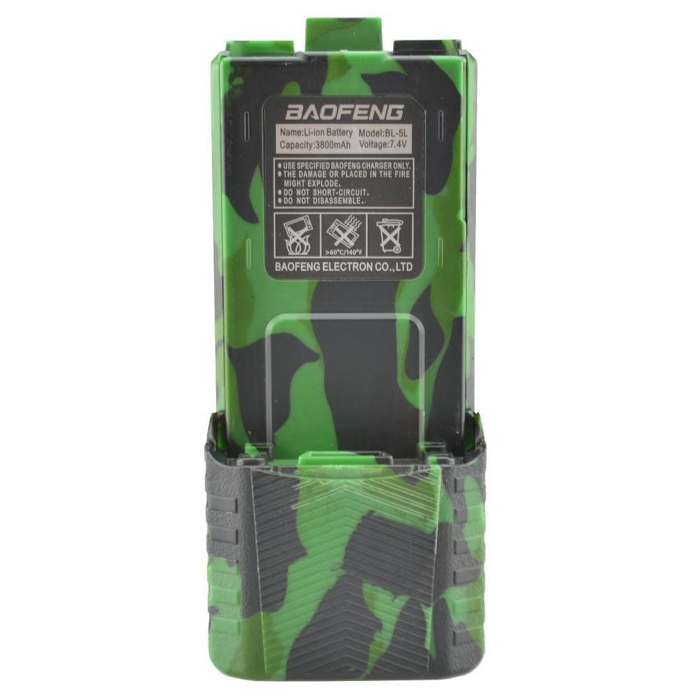 Baofeng Green EXTENDED Li-ion Battery For Baofeng UV-5R V2+ And Baofeng BF-F8