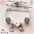 Hot Sale Best Friend Collection Silver Charms Jewelry Pink Love Heart And Best Friend Charm Series DIY 925 Real Silver Bracelet