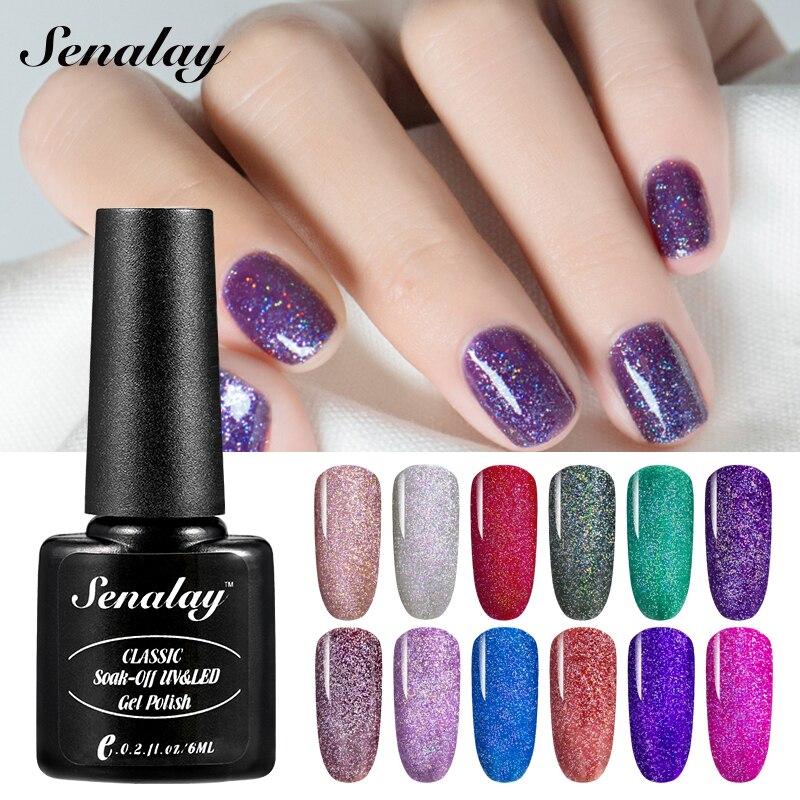 SENALAY Gel Nail Poslish Hybrid Nail Art UV Gel Nail Polish Set Poly Semi Permanent Base Gel All For Nail Manicure Top Senalay