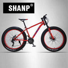 LACK Mountain Bike FatBike Steel Frame 24 Speed Shimano Disc Brakes 26″x4.0 Wheels Long Fork