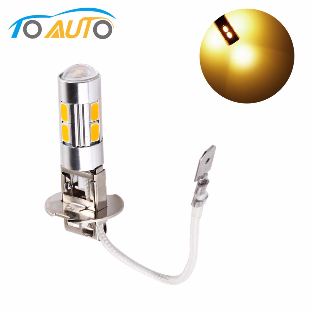 H3 LED Light Replacement Bulbs For Car Fog Lights Driving Lamps High Power Auto Led Bulbs Car Light  12V Yellow