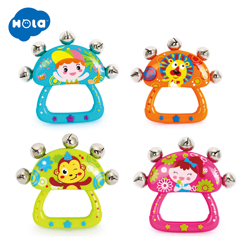1PC HOLA 3102E Baby Rattles Music Toy Hand Bell, Educational Hand-Rattles, Toy Musical Instrument Of Baby Hand Held Bell