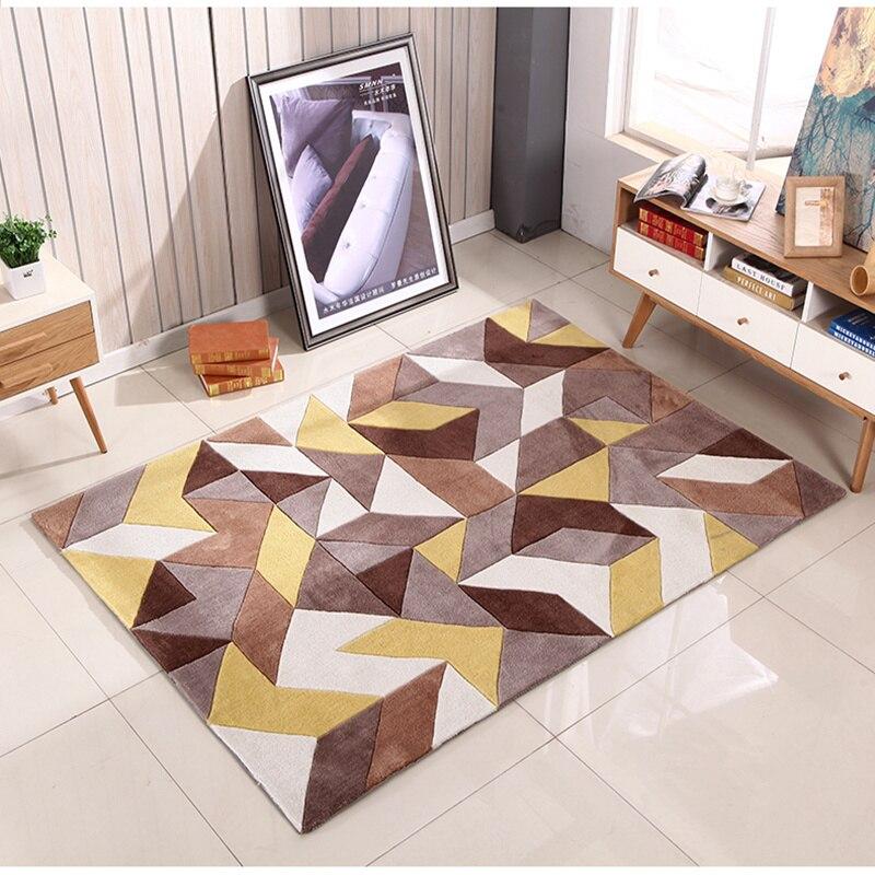Mode nordique moderne minimaliste pure main tapis salon table basse chambre tapis flottant fenêtre magasin peut être personnalisé