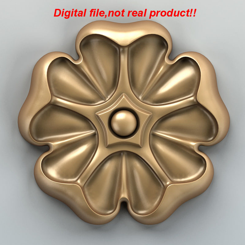 3D Relief Digital File For CNC Router Can Input Artcam Rhino-Round Rosette