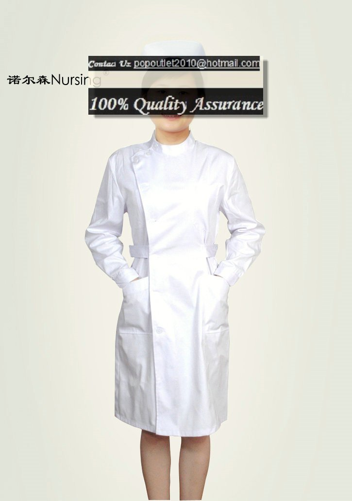 White nurse uniform dress nursing uniforms nursing gowns nursing ...