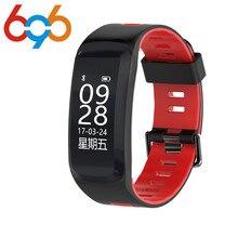 696 NO. 1 F4 Pulseira De Fitness Inteligente IP68 à prova d' água medidor de Pressão Arterial Monitor De Freqüência Cardíaca Pulseira Smartband VS ID115 F3 ID107