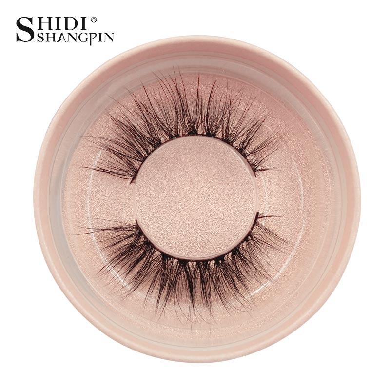 SHIDISHANGPIN 1 Pair Eyelashes Hand Made 3d Mink Lashes Natural Long Mink Eyelashes 1 Box False Eyelash Extension Makeup Tools