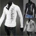 Frete grátis Mens slim fit Com Decote Em V camisa Assentamento malhas de moda para homens clássicos dos homens pulôver de tricô camisas Marca de Topo