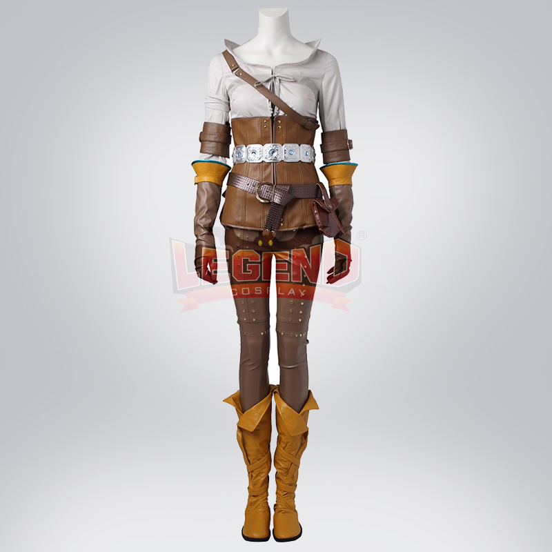 Cosplay legend The Witcher 3: chasse sauvage Cirilla Cosplay costume adulte sur mesure ensemble complet sans chaussures