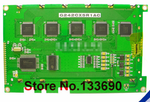 산업용 lcd 패널 g242c 240128 240x128 흰색 검정색 배경 화면 검정색 필름 병렬 g242cx5r1ac 새 패널