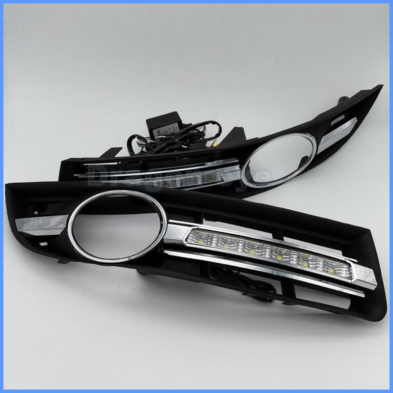Super Brightness Car Accessories LED Daytime Running Light DRL Lamp For Volkswagen Passat B6 2006 2007 2008 2009 2010 2011 daytime running light for vw volkswagen passat b6 2007 2008 2009 2010 2011 led drl fog lamp cover driving light